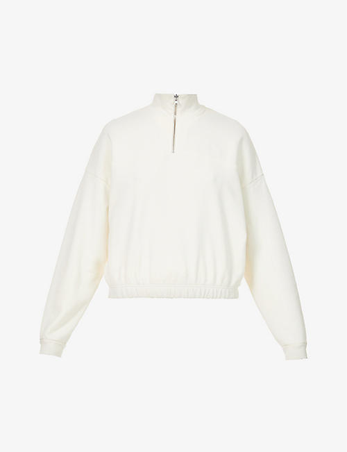 LEVIS: Pom Quarter Zip branded cotton-jersey sweatshirt