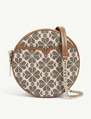 KATE SPADE NEW YORK: Spade Flower embroidered jacquard round bag