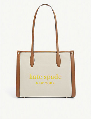 KATE SPADE NEW YORK: Logo-print canvas tote bag