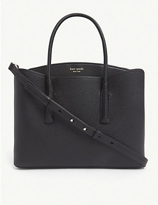 KATE SPADE NEW YORK: Margaux logo-embossed small leather bag