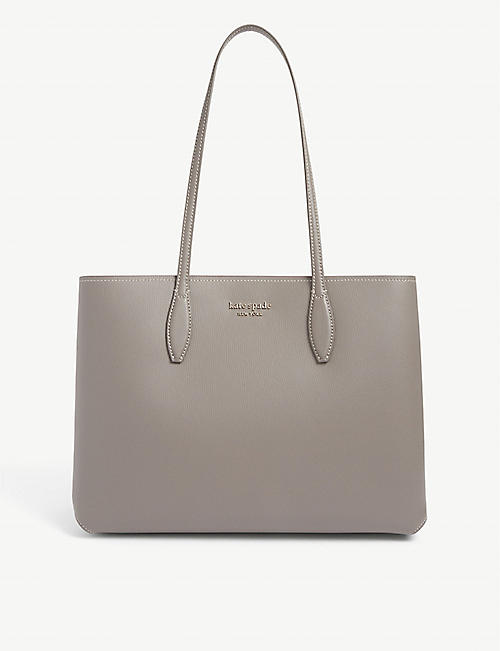 KATE SPADE NEW YORK: All Day branded leather tote bag