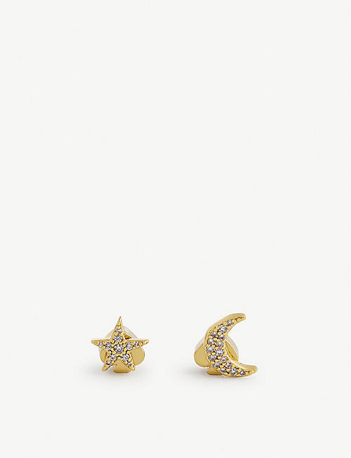 KATE SPADE NEW YORK: New York star moon studs