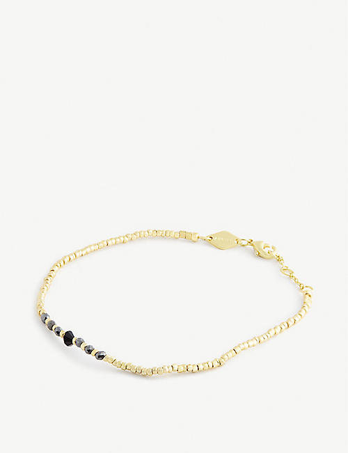 ANNI LU: Candy Shop pearl and 18ct gold-plated bracelet