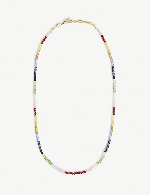 ANNI LU: Chasing Rainbows gold-plated and glass necklace