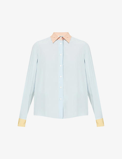 PORTS 1961: Relaxed-fit long-sleeved silk shirt