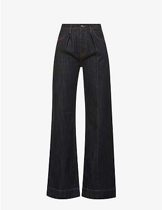PORTS 1961: Wide-leg high-rise jeans