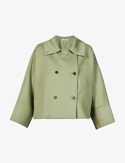 LOEWE: Double-breasted wool and cashmere-blend jacket