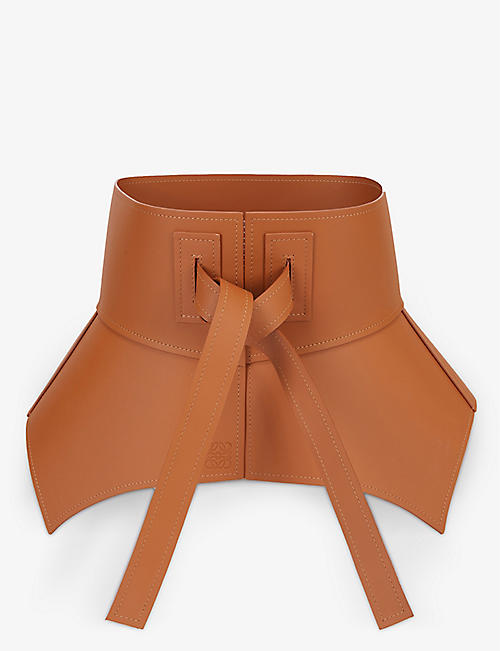 LOEWE: Obi wide leather belt