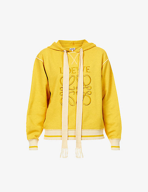 LOEWE: Anagram-embroidered cotton-jersey hoody