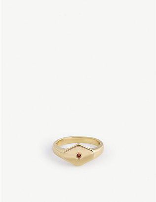SERGE DENIMES: Desher 14ct gold-plated sterling silver ring