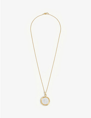 TOM WOOD: Eros cameo 14ct gold-plated sterling silver necklace