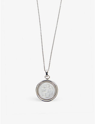 TOM WOOD: Eros white rhodium-plated sterling-silver necklace
