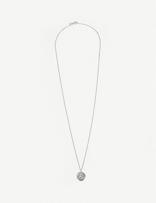 TOM WOOD: Coin silver-sterling pendant necklace