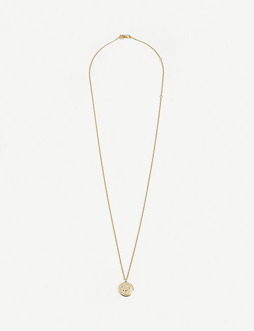 TOM WOOD: Coin 9ct yellow gold-plated silver-sterling pendant necklace