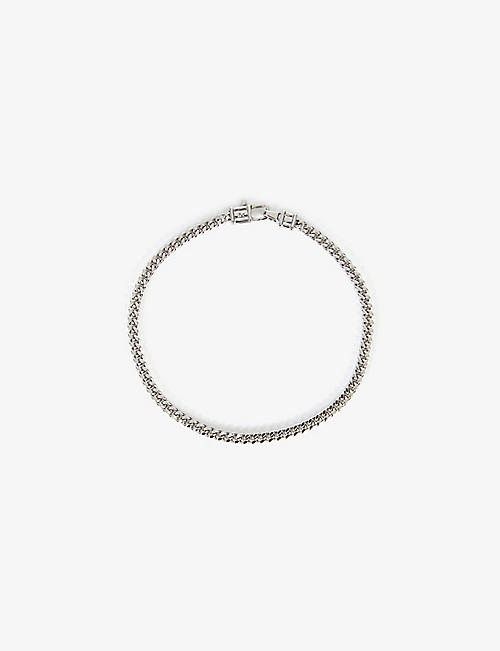 TOM WOOD: Curb-chain sterling-silver bracelet