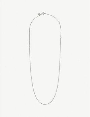 TOM WOOD: Rolo sterling silver curb chain necklace