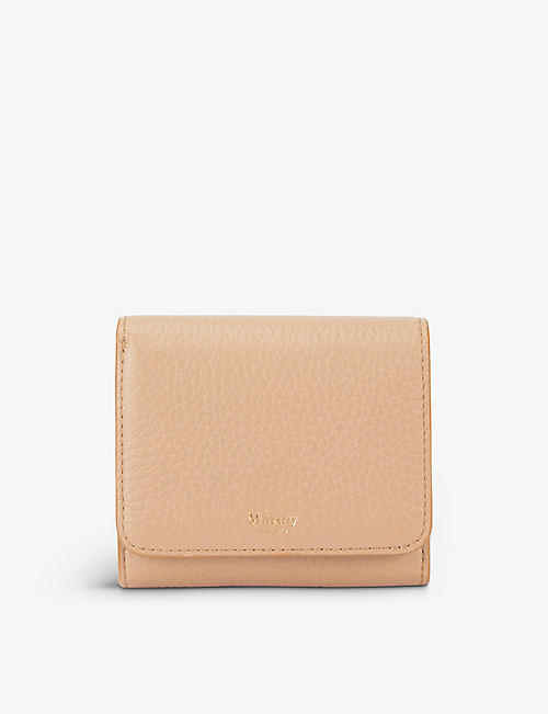 MULBERRY: Small Continental grained leather wallet