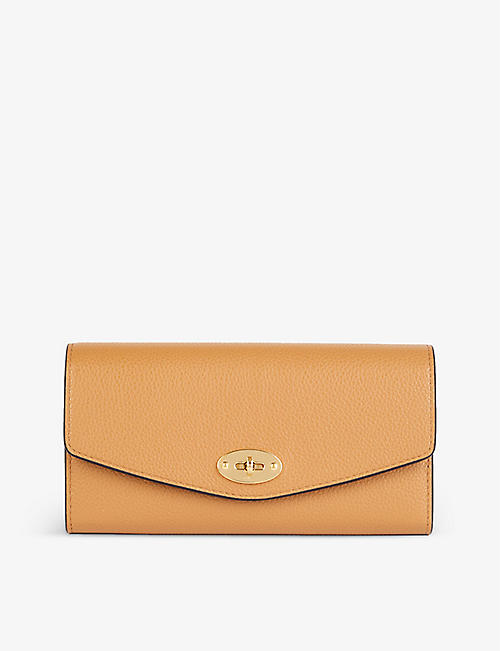 MULBERRY: Darley grained leather wallet