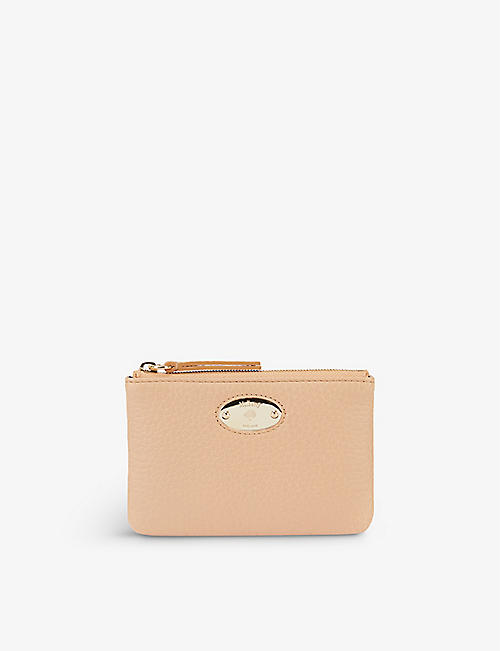 MULBERRY: Oval-plaque grained leather coin pouch