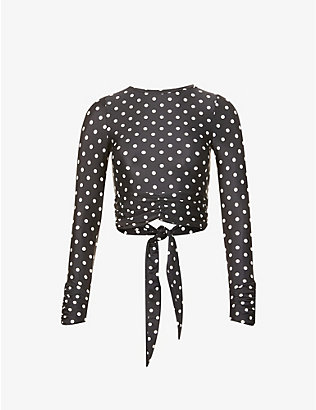 PEONY: Polka-dot recycled polyamide-blend shirt