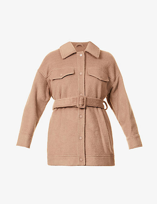 TOPSHOP: Clara belted woven jacket