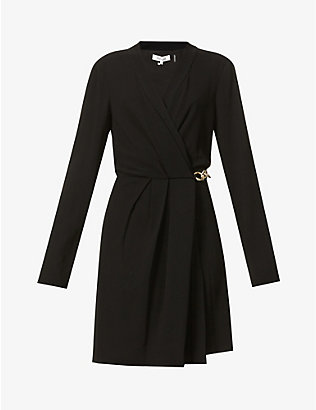 DIANE VON FURSTENBERG: Christel chain-embellished crepe mini dress