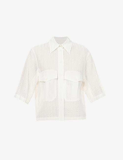 SONG FOR THE MUTE: Relaxed-fit lace shirt
