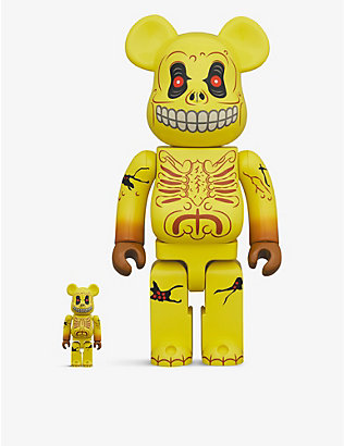 BE@RBRICK: Skull Face 100% and 400% figures