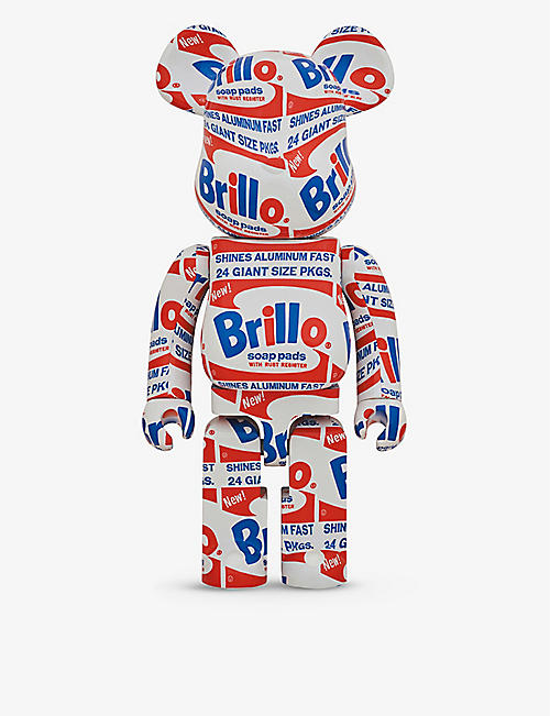 BE@RBRICK: Andy Warhol ''Brillo'' graphic-print 1000% figurine