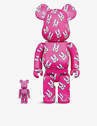 BE@RBRICK: Kiyoshiro Imawano graphic-print 100% and 400% figures