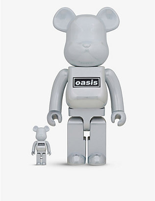 BE@RBRICK: Oasis White graphic-print 100% and 400% figures set of two