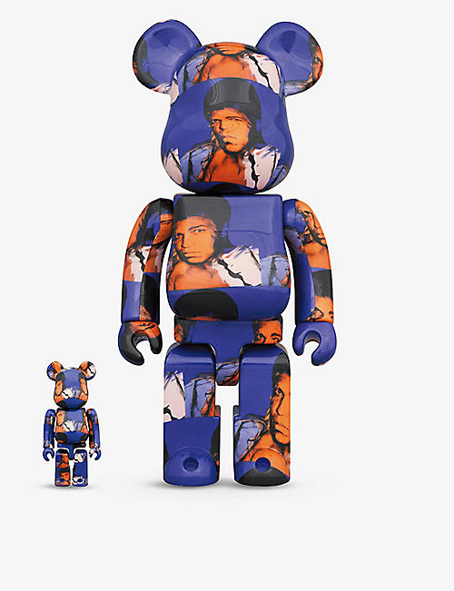 BE@RBRICK: Muhammad Ali graphic-print 100% and 400% figure set