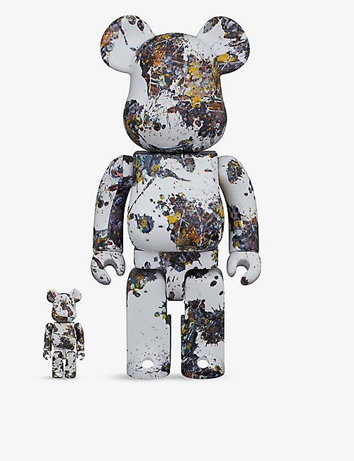 BE@RBRICK: Pollock Splash 100% and 400% figures