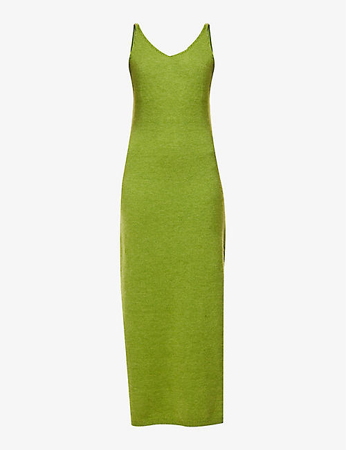 NEVER FULLY DRESSED: Scoop-neck knitted midi dress