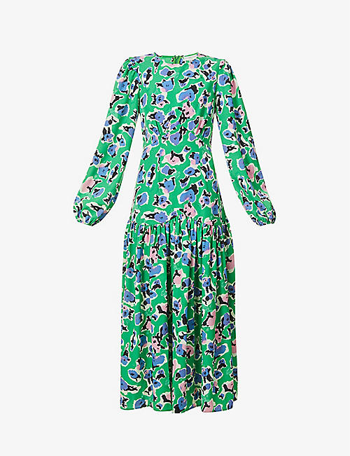 NEVER FULLY DRESSED: Delilah floral-print stretch-woven maxi dress
