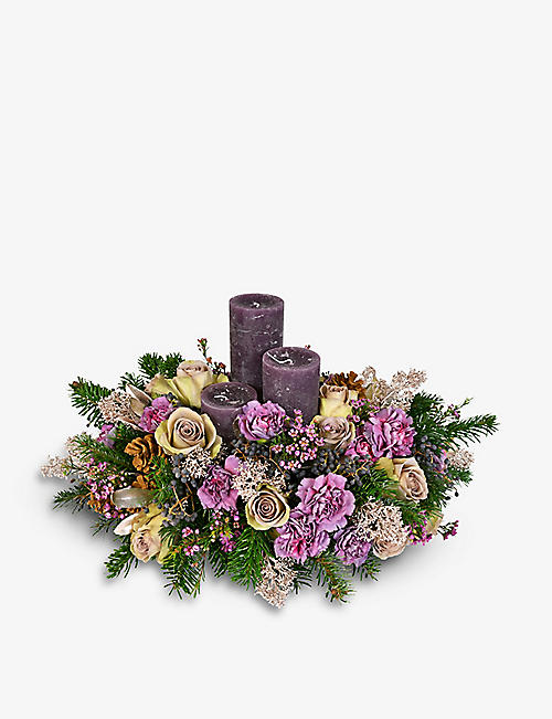 MOYSES STEVENS: Purple Paradise table wreath