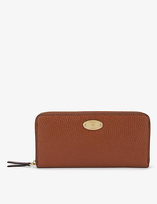 MULBERRY: Plaque-embellished leather purse