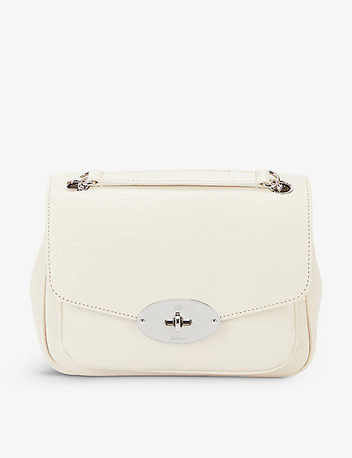 MULBERRY: Darley small croc-embossed leather shoulder bag