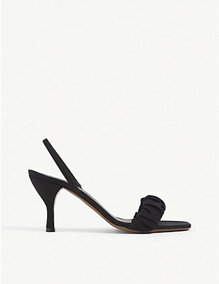 NEOUS: Alhena leather heeled mules