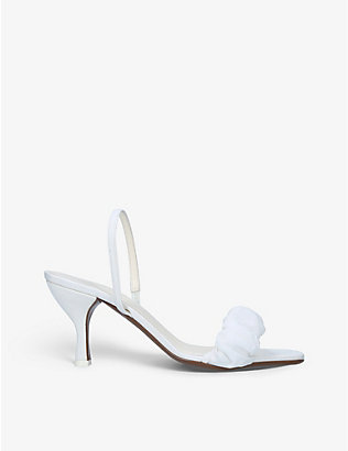 NEOUS: Althena leather heeled sandals
