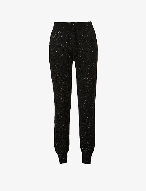 BELLA FREUD: Cher Speckle slim-fit mid-rise cotton-blend jogging bottoms