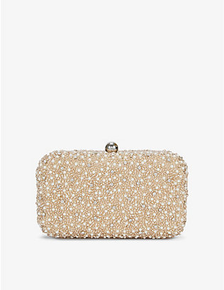 FROM ST XAVIER: Mini Pearl Box clutch bag