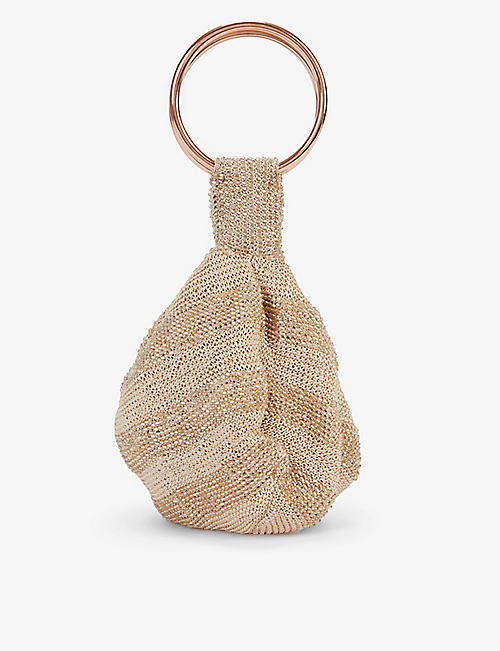 FROM ST XAVIER: Goldie embellished woven pouch bag