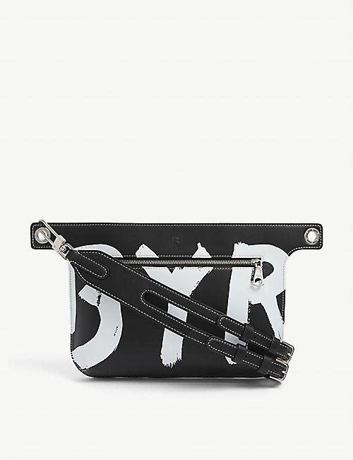 BYREDO: Anatomic leather crossbody pouch bag