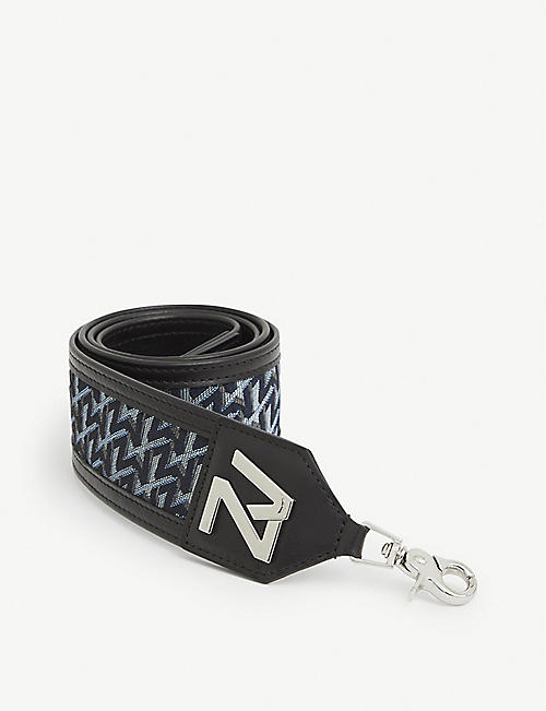 ZADIG&VOLTAIRE: ZV Initiale leather and canvas bag strap