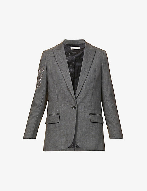 ZADIG&VOLTAIRE: Viva Car embellished stretch-woven blazer