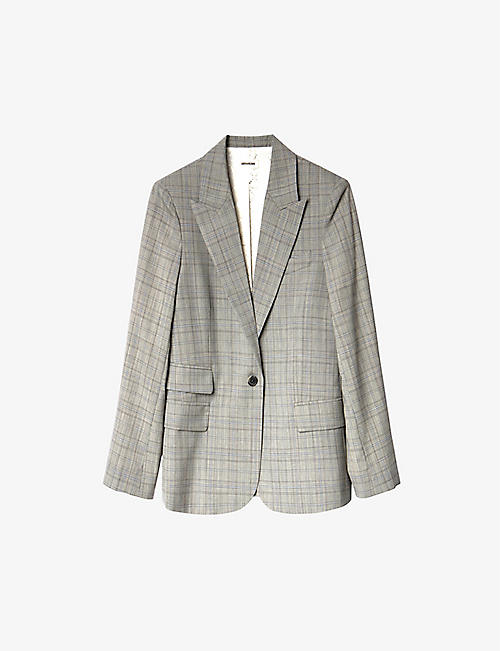 ZADIG&VOLTAIRE: Venus Car checked wool blazer