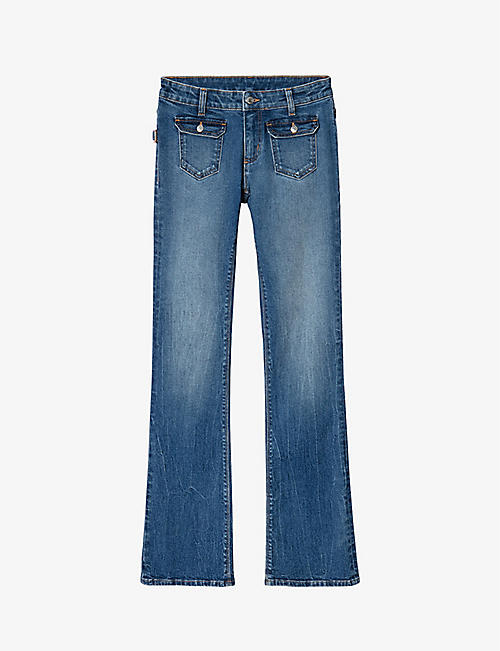 ZADIG&VOLTAIRE: Hippie flared mid-rise jeans