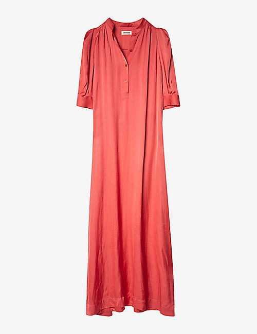 ZADIG&VOLTAIRE: Remedy button-up satin midi dress