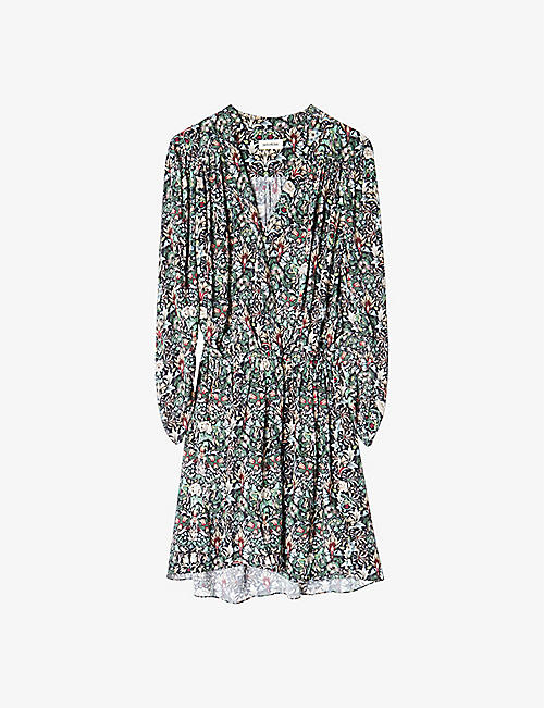 ZADIG&VOLTAIRE: Reveal Kaleido floral-print woven mini dress